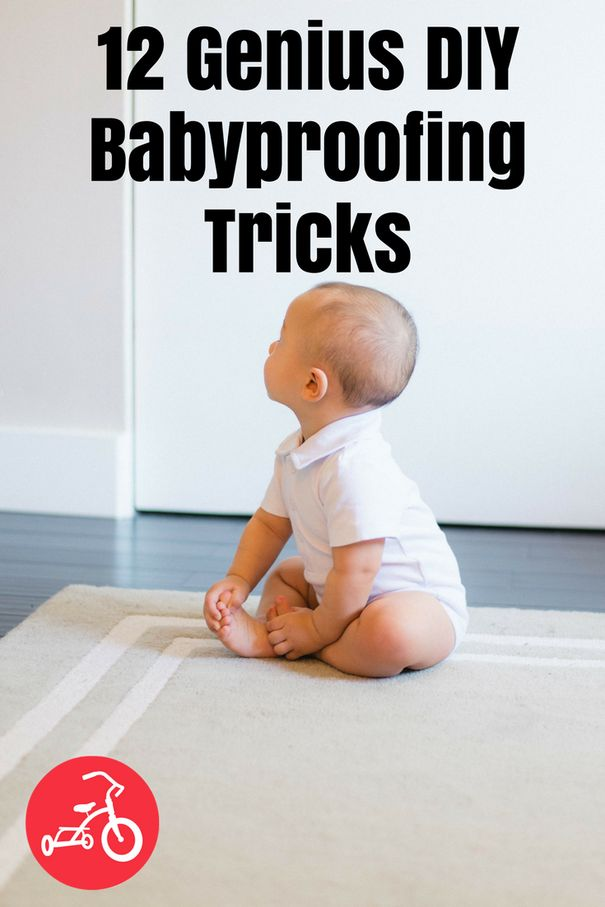 12 Genius DIY Babyproofing Tricks. Put away loose items and secure furniture that could fall over. Here are 12 budget-friendly safety tricks. #babyproof #babyproofing #DIYbabyproofing