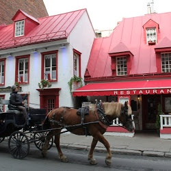 Aux Anciens Canadiens Restaurant - Quebec. Wonderful French Canadian food. The restaurant is in the oldest house in Quebec, a cabin that was built in 1676.