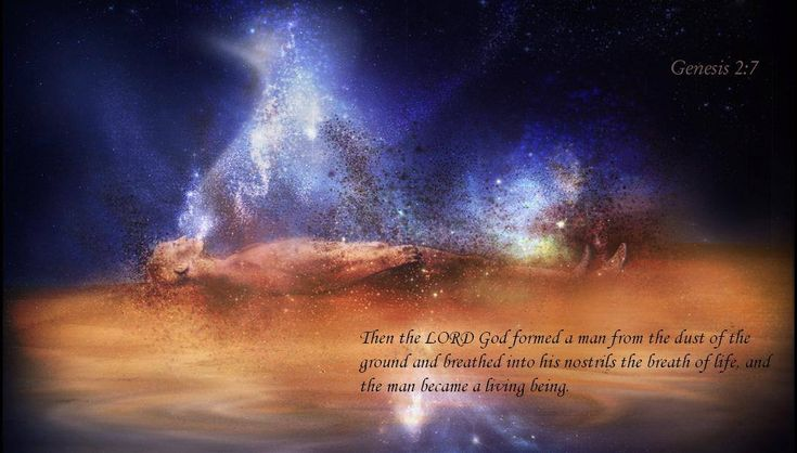 Genesis 2:7 Then the Lord God formed the man from the dust ...