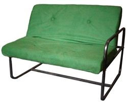The Adjustable Dorm Sofa (Mini-Futon or Full Futon) - Spring Green - Enhances Dorm Decor Too
