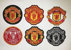 a manchester united logos bordados coser estilo diferente o parche de hierro en