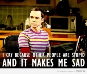 Well said Sheldon ;)