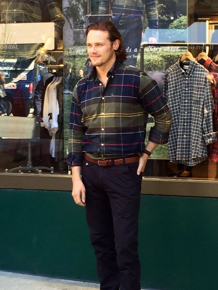 """"""" It was quite instantaneous"""" : Photo Sam Heughan Barbour Store 22. September 2016 NYC"""