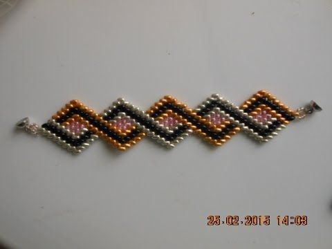 DIY-Tutorial- Ro- Bratara in zig-zag cu 4 culori de twinbeads - YouTube