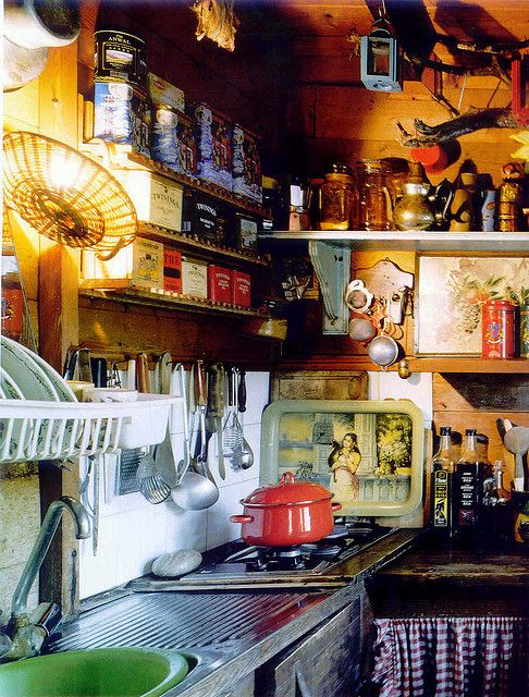 Small kitchen in Bohemian mood