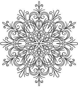 Celebrate winter in style with this pretty, intricate snowflake design. Downloads as a PDF. Use pattern transfer paper to trace design for hand-stitching.