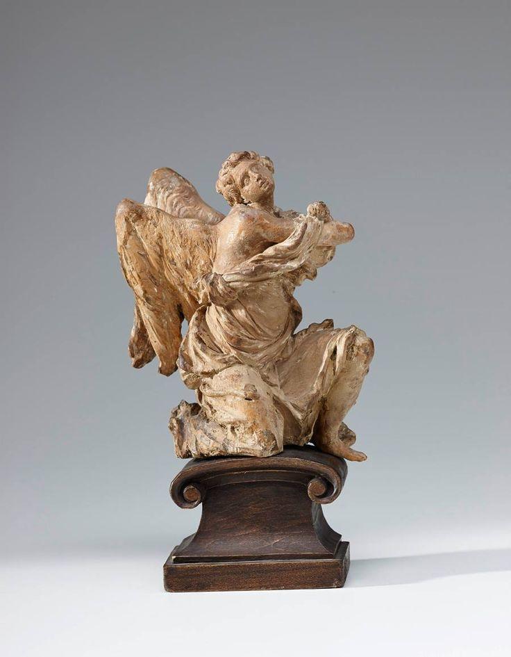 Michael Zürn le jeune, Ange adorateur, 1682. Bois de tilleul, nouveau socle. Salzburg Museum, 18,5 x 12 x 6,5 cm (avec socle), Land de Salzbourg © Salzburg Museum / Rupert Poschacher