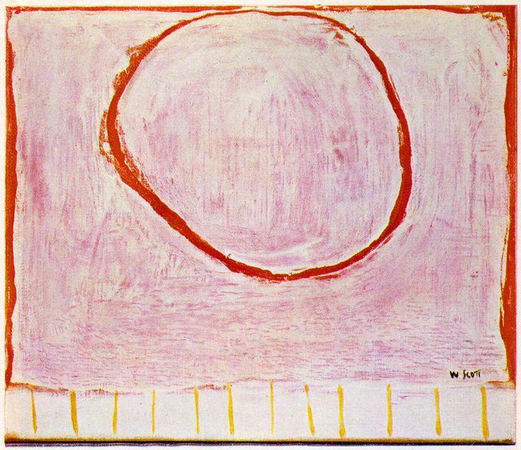 retroreverbs:  William Scott - Red Circle on Pink (1963).