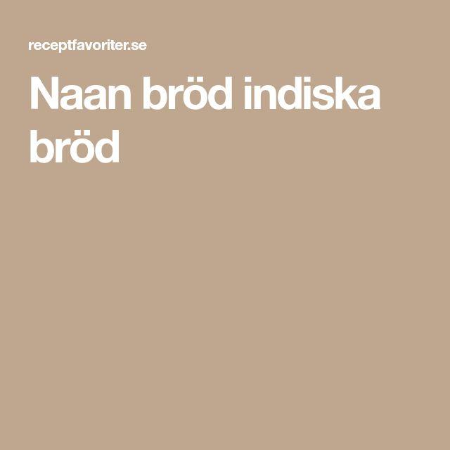 Naan bröd indiska bröd