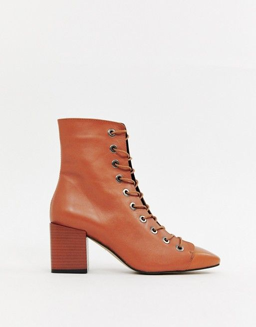c14b73a177f29 Pin by Abby Miller on wishlist | Pinterest | ASOS, Leather and lace and  Leather lace up boots