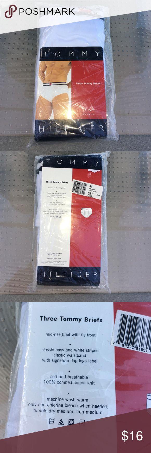 Men's Tommy Hilfiger Briefs 3 pack size 34 briefs. New in package. Tommy Hilfiger Underwear & Socks Briefs