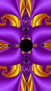 Graficzna abstrakcja w fiolecie