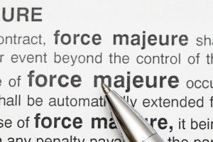 Force majeure provisions in construction contracts