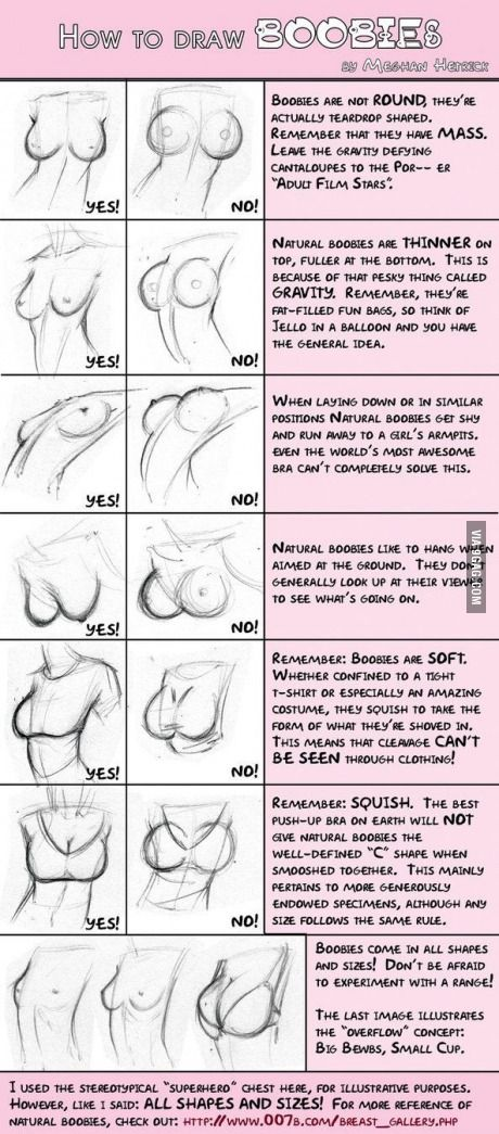 How to draw boobies