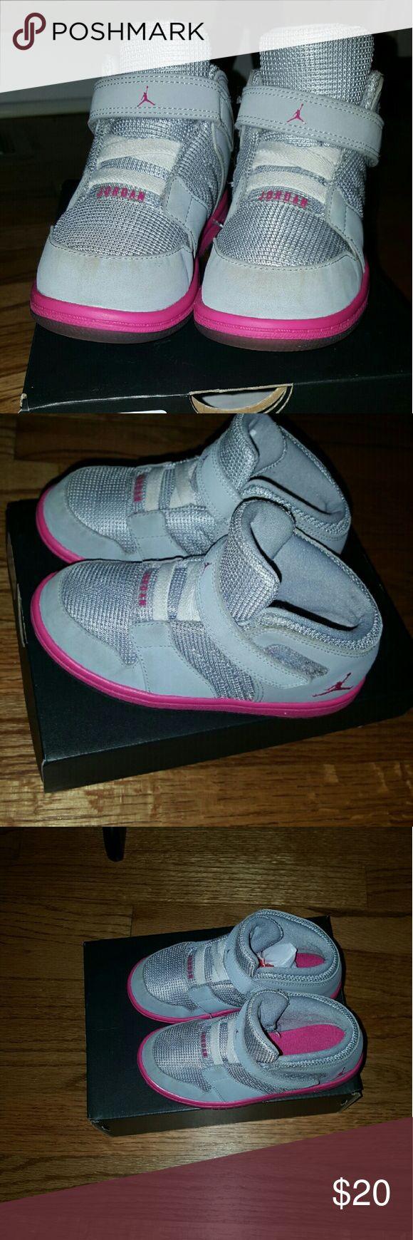 Jordan 1 Flight 4 Prem GT Toddler 10 Pink and Gray Jordan Flights Jordan Shoes Sneakers