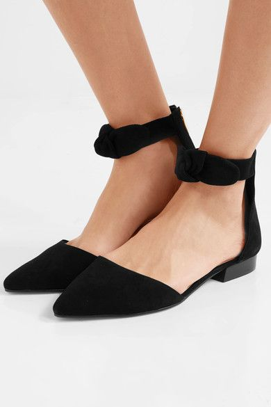 MICHAEL Michael Kors - Alina Knotted Suede Flats - Black