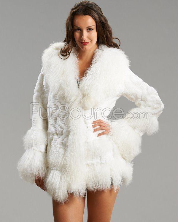 White Rex Rabbit Fur Amber Jacket | Fur Jackets | Pinterest