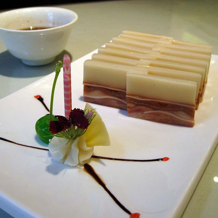 Terrine of pig's ear and lotus/cocos jelly. Xi'an, China