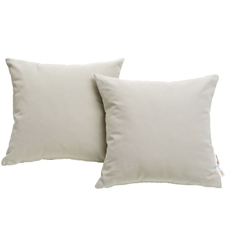 Modway Invite Sunbrella Outdoor Patio Pillow (Set of 2) (Beige), Outdoor Cushion (Fabric)