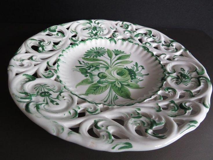 Hand-painted Italian display plate