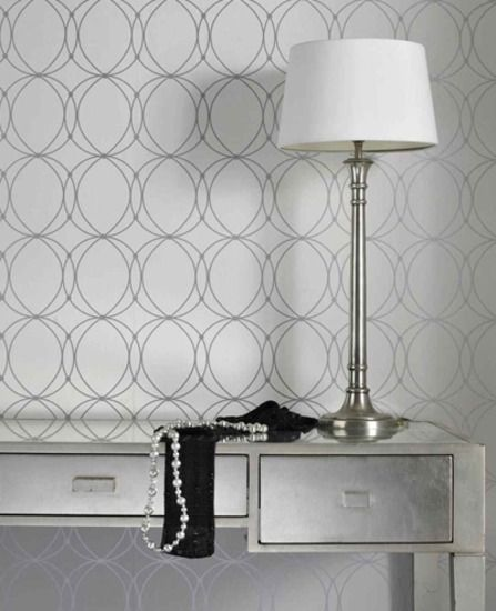 Darcy: White & Silver Wallpaper from www.grahambrown.com