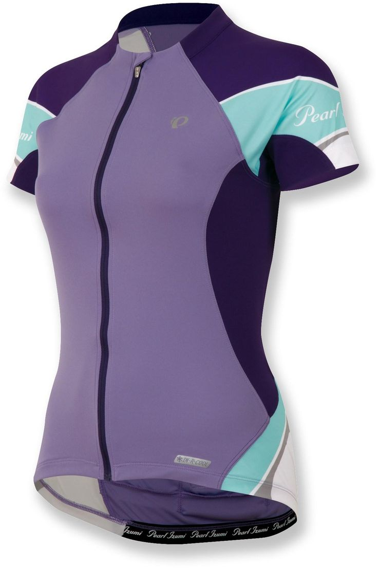Love the colors on this bike jersey.