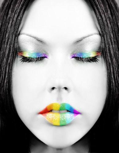 Regenboog lippen
