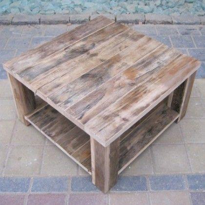 Damwandhout salontafel, gemaakt van uniek gerecycled hout!