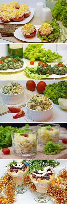 Порционные салаты, праздничные рецепты с фото | Все Блюда