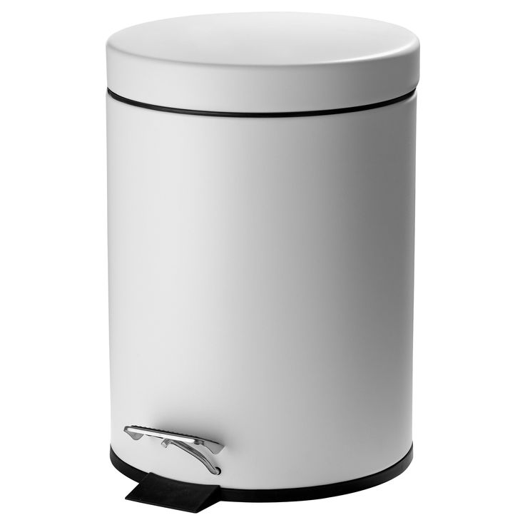 STRAPATS Pedal bin - matt white, 5 litres - IKEA $14.99  KF - this looks good