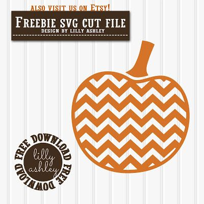 Make it Create by LillyAshley...Freebie Downloads: Free Pumpkin SVG Chevron Pumpkin Cut File