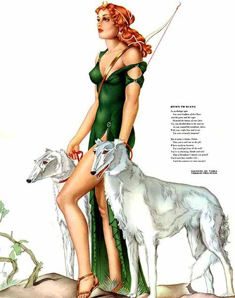 'Diana' (1930) by Alberto Vargas. One of many in by Borzoi collection