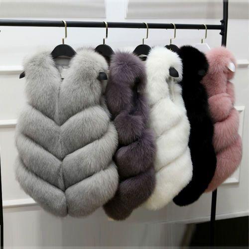 Women-Lady-Warm-Faux-Fox-Fur-Waistcoat-Jacket-Coat-Short-Slim-Vest-Gilet-Outwear