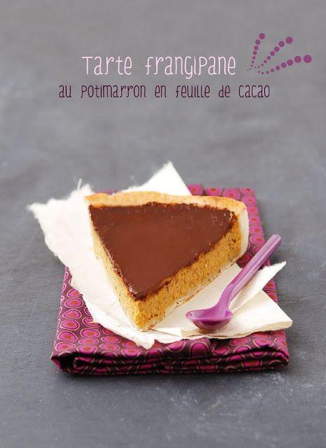 My Sweet Faery: Tarte frangipane au potimarron en feuille de cacao...