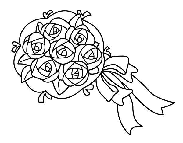 Dibujo de Ramo de gardenias para Colorear