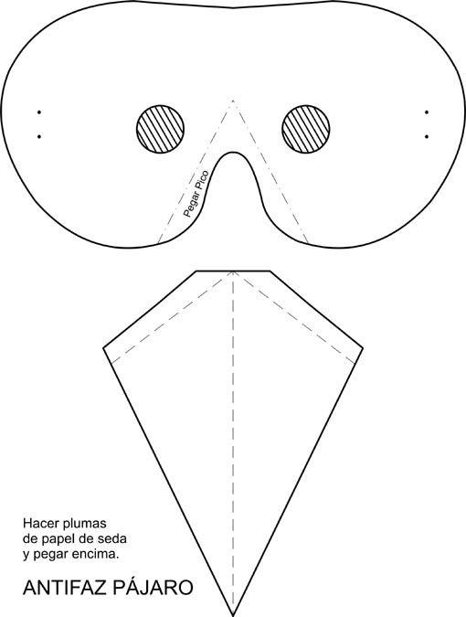 Mascara pajaro - Imagui