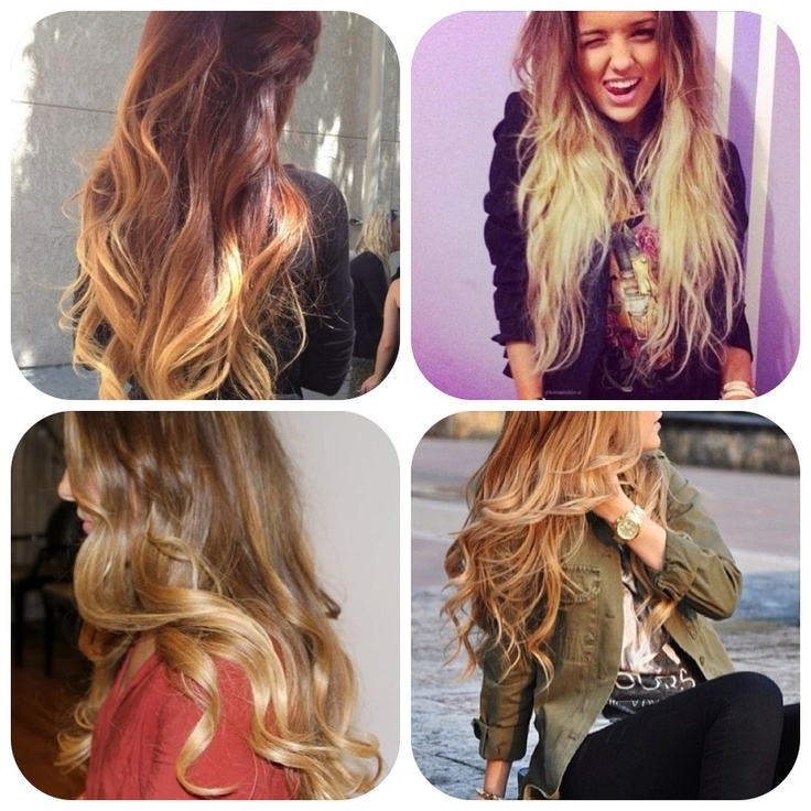 Hair I Want Ombr 233 Brown Blonde Bronde Dip Dye Highlights