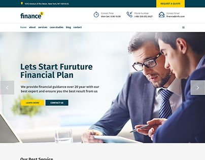 """Check out new work on my @Behance portfolio: """"Finance - Financial, Business…"""