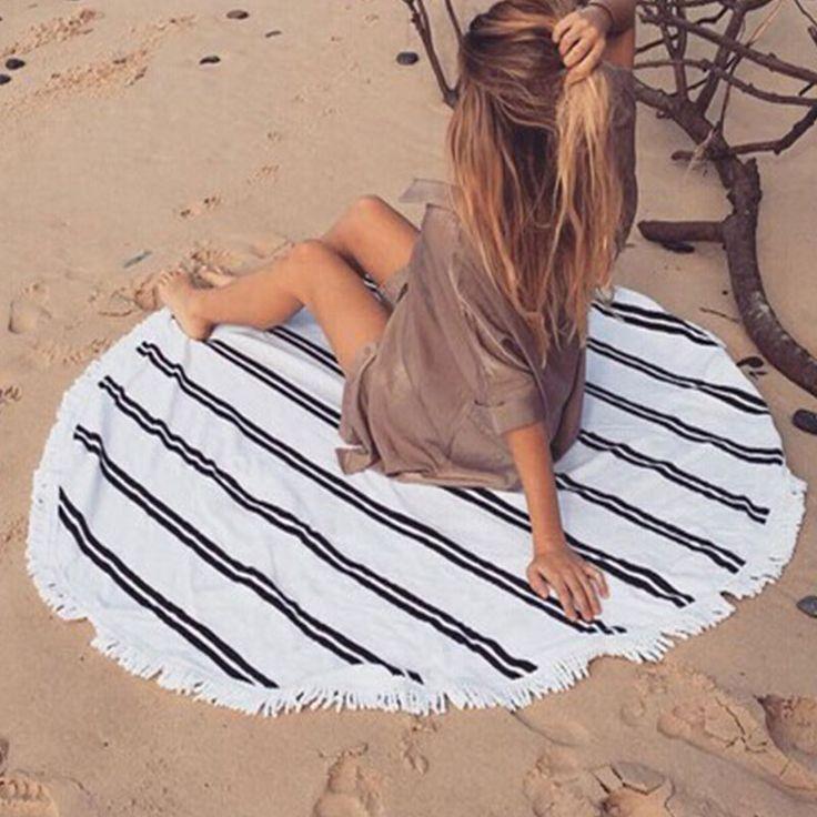 Pool Swimwear Round Towels Holiday Travel Tassel Bohemian Round Beach Towels Cover Ups Print Exotic Tribal Blankets Bath Towel