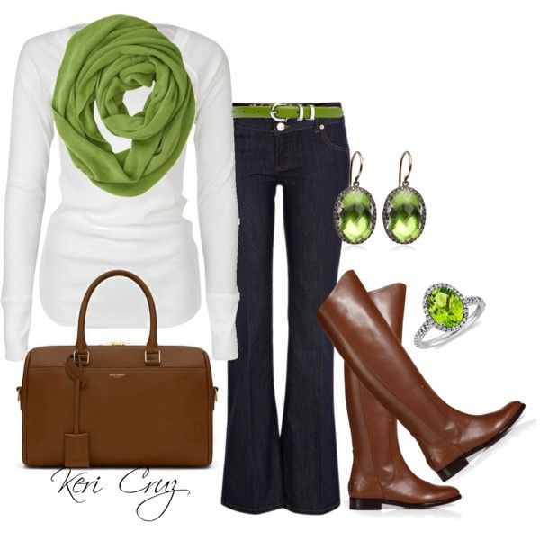 """Green accessories"" by keri-cruz on Polyvore"