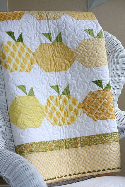 "Great variation on a ""snowball"" block quilt! I think this one is really cute!"