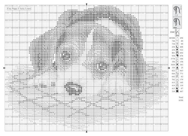 Puppy free cross stitch pattern