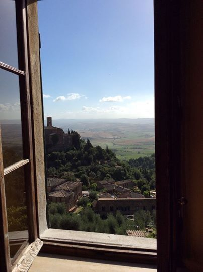 The beautiful morning view from our San Polo Guest house in Montalcino.  Welcoming nature inside.