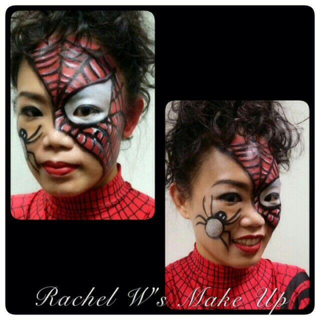 Spiderman face painting work #rachelwmua