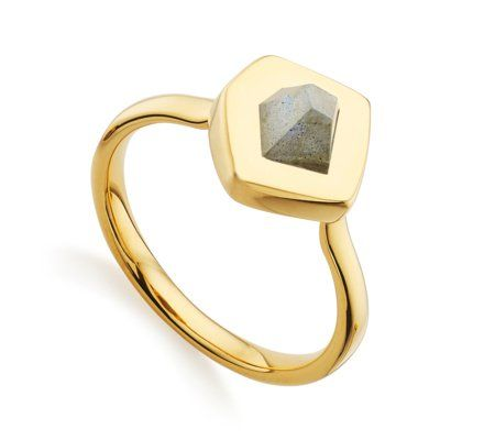 Monica+Vinader+Gold+Petra+Stacking+Ring+Labradorite+|+Jewelry+and+Accessory