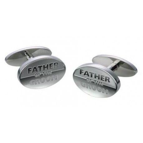 """Manchetknopen Ovaal """"FATHER OF THE GROOM"""" Deze prachtig manchetknopen zijn speciaal ontworpen voor de mooiste dag in je leven."""