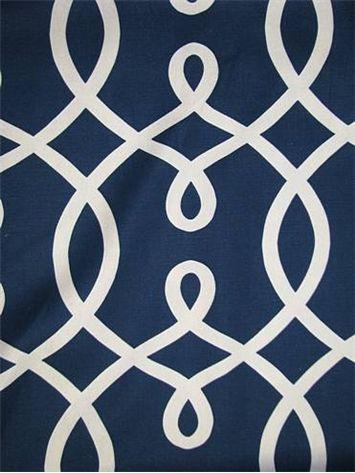 Loop De Loop 206 Navy Duralee Fabric Lattice Pattern 55