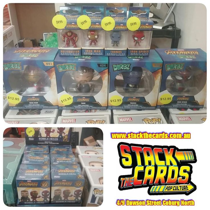 Marvel's Infinity War keychains dorbz and Mystery Minis also available  Link to website in bio  Click and Collect available. Zippay and Afterpay options . . . . #stackthecards #popculture #popculturegram #collectables #collectibles #collectablesforsale #pops #funko #popvinyl #popcollector #popcommunity #funkocollector #funkofunatic #avengers #marvel #marvelday #infinitywar #ironman #hulkbuster #captainamerica #blackwidow #thanos #groot #ironspider #spiderman #proximamidnight #marvelcomics…