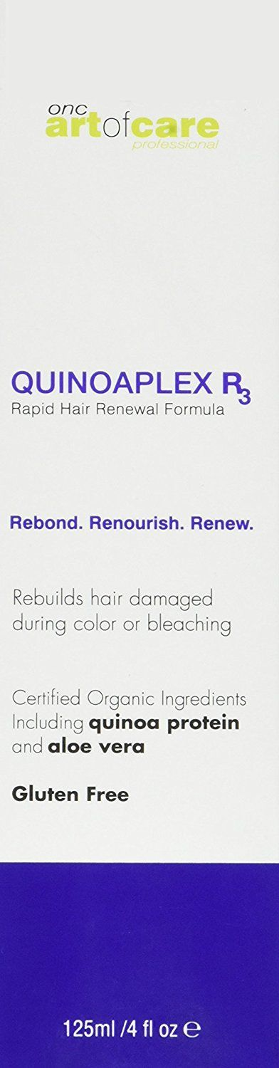 ONC artofcare QUINOAPLEX R3 Rapid Hair Renewal Formula 4 fl. oz. 125 ml, 1 pc, 1 Organic Based Bond Builder and Protein Conditioner with Quinoa Protein, Aloe Vera, and Certified Organic Ingredients ** For more information, visit image link. #hairdresser