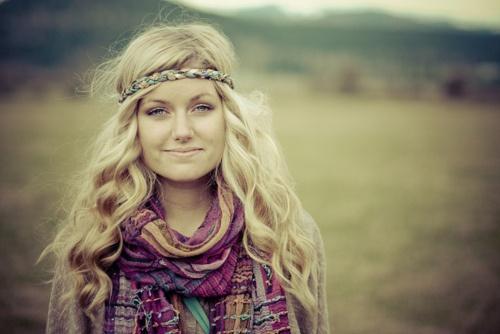 hippie headbands and curls.